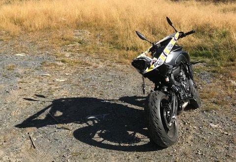 Det var denne motorsykkelen som ble kjørt av Nordsetervegen onsdag formiddag.
