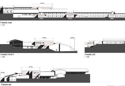 FORSLAG: SG Arkitikturs skisser viser hvordan Harestua skole vil kunne se ut etter at rehabilitering og nybygg er ferdig