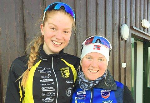 Ingrid Dragerengen fra Raufoss og Helena Vesteng fra Svea ble nummer to og tre i 16-årsklassen på Lygna.