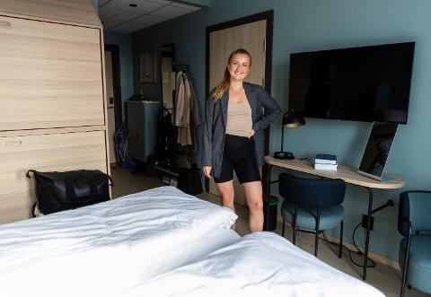 HOTELLROM: Jusstudent Mari Aadland (21) valgte å bo på hotellrom hos Scandic Victoria Lillehammer i stedet for å leie studenthybel.