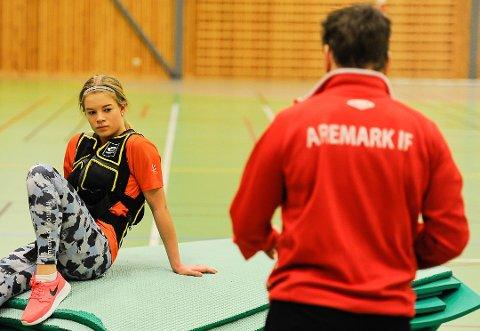 FORNØYD: Karoline Jæger var fornøyd etter sin deltakelse i ungdoms-OL.