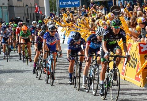 Ladies Tour of Norway avsluttes som vanlig i Halden sentrum.