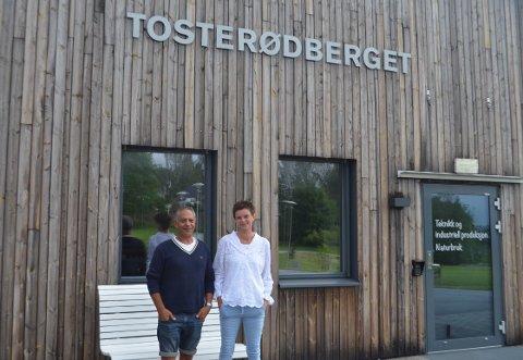 Jubileum: Samtidig som andre feiret sommerferie, kunne Avi Danino og Anne Borge Hansen feire 25 års jubileum på arbeidsplassen.