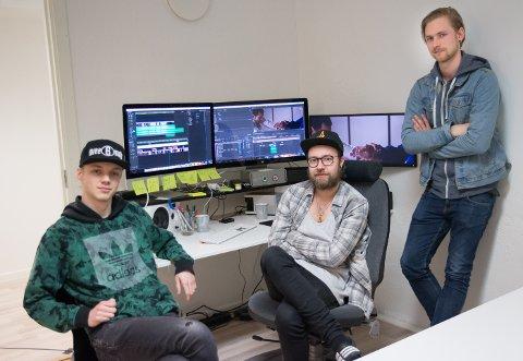 SAMLET: Einar Andreas Lilleengen, Patrick Engevold og Mathias Eek har gått sammen i Sylskarp Film AS.