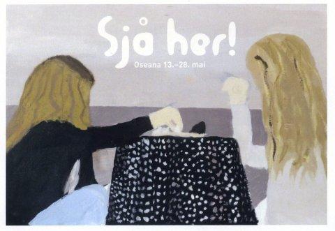 Ullensvang:   Marie Mårstig Ravnøy (12) sitt sjølvportrett er óg vald ut som invitasjon.