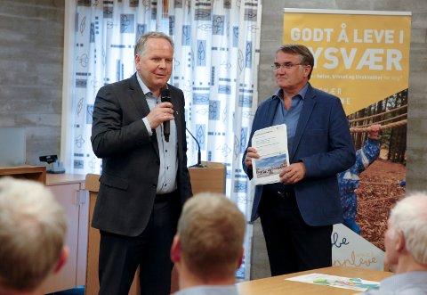 Ordfører Sigmund Lier og rådmann Arvid S. Vallestad ønsker begge videre prosess med tanke på å få Sunnhordland og Haugalandet i samme fylke.