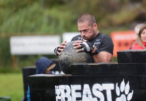 TØFFE TAK: Jarle Thy i aksjon under The Beast i fjor.