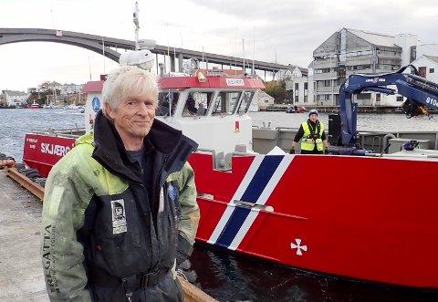 LIV I SMEDASUNDET: Lars Einar Hollund kan med glede melde om liv på bunnen av Smedasundet i Haugesund.