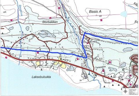 FJERNET: Ved hjelp av regjeringen, kan posisjonen i Vadsø nå fjerne eiendomsskattstreken. Kart: Vadsø kommune