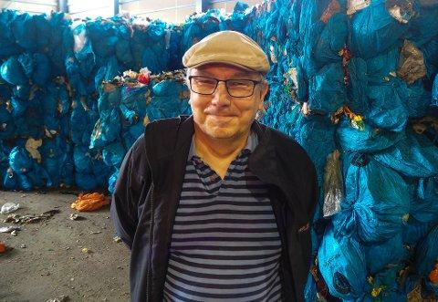 Geir Olsen er avdelingsleder på avfallsanlegget på Stengelsmoen.