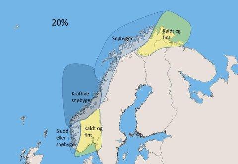 Her er Storms prognoser for julen. Foto: Frode H. Korneliussen.