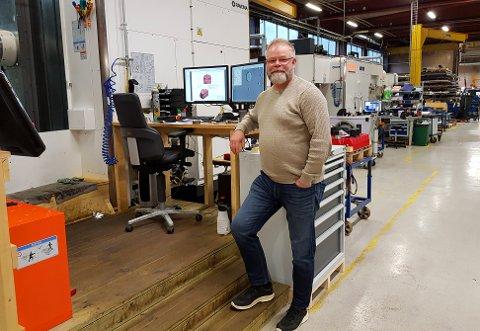 LEDER: Olaf Ødegård er daglig leder for Uvdal maskinfabrikk.