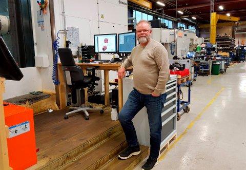 GODE TIDER: Olaf Ødegård startet som administrerende direktør i et år Uvdal Maskinfabrikk opplevde sin høyeste omsetning noensinne.