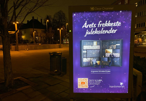 QR-HANDLING: I fjor prøvde Kondomeriet seg med QR-kode på reklameboards for å selge julekalendere.