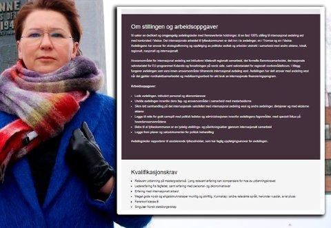 TRIST: Olga Goldfain mener det er trist og diskriminerende at mennesker med hennes bakgrunn, som har dobbelt statsborgerskap, skal utelukkes fra toppjobb i Troms og Finnmark fylkeskommune.