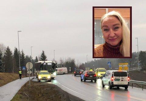 SÅ IMPONERT: – Jeg har fått erfare traumeteamet og intensiv avdeling på Gjøvik sykehus. Jeg er så imponert, sier Elisabeth Wang etter bussulykken.