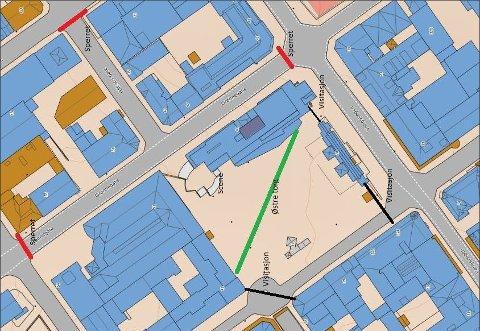STENGES: Flere sentrale gater i Hamar skal stenges som følge av Sian-demonstrasjon på Østre torg lørdag.