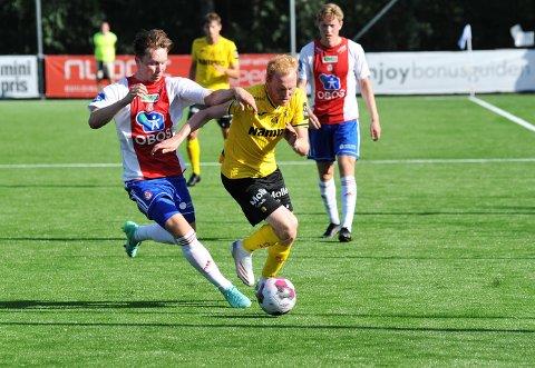 NY ROLLE: Sivert Westerlund ble testet som stopperalternativ i treningskampen mot KFUM Oslo.