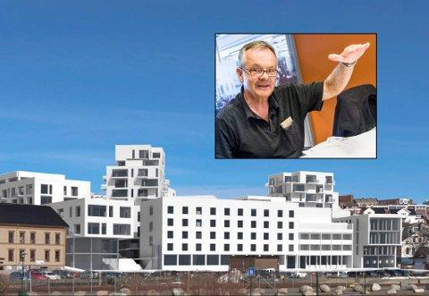Vant ikke fram: Finn W. Fjellanger førte klagen mot Grandkvartalet i pennen på vegne av en rekke foreninger i Larvik. Men klagen har blitt avvist av Fylkesmannen i Vestfold.