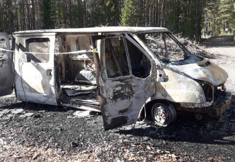 UTBRENT: Slik ser bilen til Kjetil Nordholm ut nå.