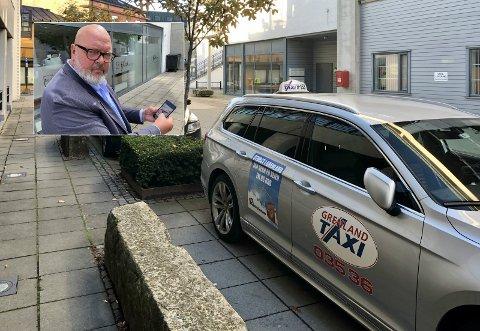 IKKE BEKYMRA: Grenland Taxi-sjef Truls Fjeldstad er ikke bekymret på næringas vegne inn mot jul.
