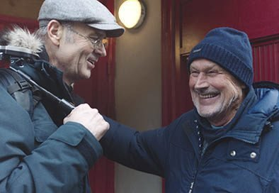 DokumentarFILM: Erik Poppe og Per Fugelli under innspilling av filmen «Per Fuggeli – siste resept». Filmen er en sterk, humoristisk og rørende film om å leve.