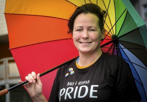 Pride: Margrethe Møllevik ser mennesker for det de er, uansett. Denne helga jobber hun for å få Pride-festivalen vel i havn. Foto: Øyvind Bratt