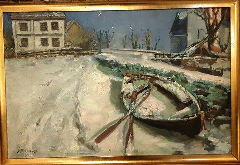 Det første av maleriene av Martin Finborud
