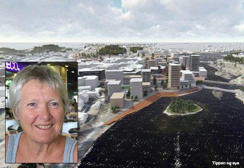 BEKYMRET: Anne-Berit Haugen Rijken er bekymret for hva framtidige innbyggere vil mene om utviklingen av Øya og Tippen.