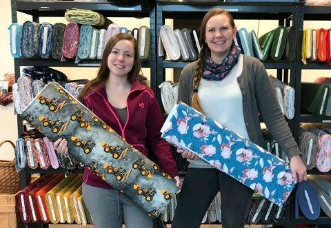 KREATIV ARBEIDSPLASS: Silje Slettum (27) og Nore Therese Glomsås (34) når ut til stadig flere med butikken Frydefull.