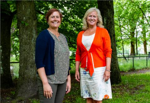 KULTURAMBISJONER: Maja Foss Five, leder for hovedutvalg for kultur, folkehelse, tannhelse og idrett i Vestfold og Telemark (t.v.) og Else Blom, direktør for kultur, regional identitet, idrett og frivillighet, har store ambisjoner for fylkets nye kulturstrategi.