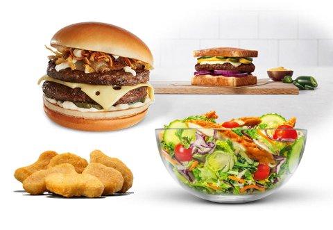McDonald's, Burger King og Max Hamburger kommer med flere nyheter denne høsten som vi gleder oss til å teste. Foto: Produsentene