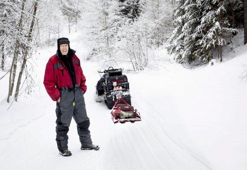 Løype! Leif Hestvik har preparert skiløyper i snart 40 år. Foto: Lisbeth Lund Andresen