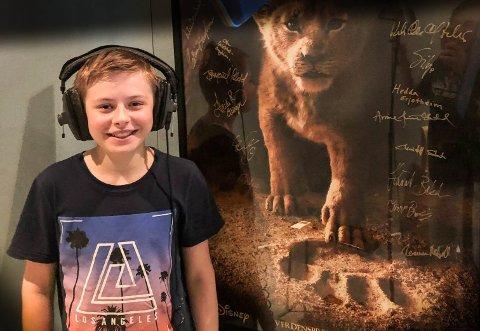 VOKST OPP I STUDIO: Oskar Fjeldstad-Bergheim har dubbet serier og filmer siden han var seks år gammel.