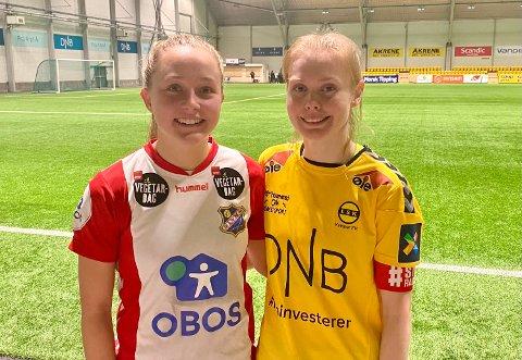 BESTEVENNINNER: Tonen etter kampen var god mellom Malin Brenn (t.h) og Camilla Linberg. – Det var godt denne kampen ikke betydde noe særlig, ler de to.