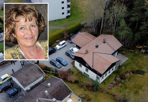 ÅSTED: Sloraveien 4 betegnes av politiet som et åsted for et drap. Inne i boligen, på et bord i det som betegnes som husets «hovedetasje», ble Anne-Elisabeth Hagens telefon funnet.