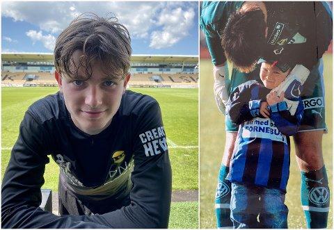 STABÆK-SUPPORTER: Med en far som spilte for Stabæk, var Magnus Knudsen en Stabæk-fan i oppveksten. Det er historie for midtbanespilleren som nå er tilbake som LSK-spiller.