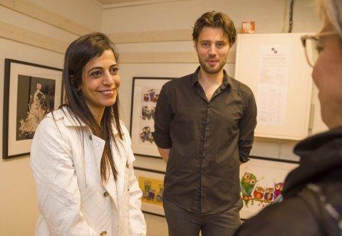 MÅNEDENS UTSTILLERE: Ela Buria og Johan Reisang er månedens utstillere på Hurum Galleriet på tofte. De har kommet direkte fra utstilling i Berlin til Tofte med sine bilder.