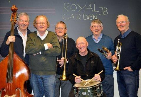 JUBILUMSKONSERT: Royal Garden Jazzband holder konsert i Holmsbu kirke søndag 4.august.