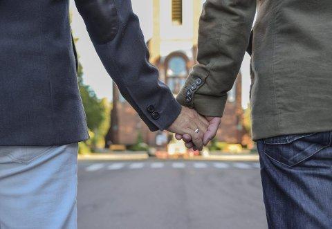 Fyttigrisen for noe svineri: To herrer som ønsker å forsegle sin kjærlighet for Gud og hvermann. Illustrasjonsfoto: Flemming Hofmann Tveitan