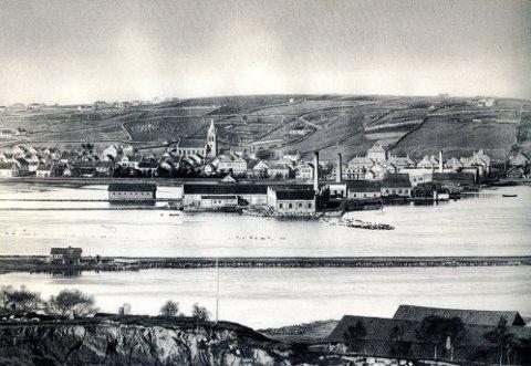 1898: Bilde fra Vågane i 1898. Bildet er lånt fra Øglænds Familiebok, utgitt i 1943.
