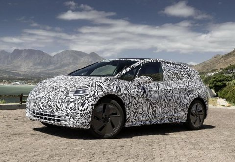 Dette bildet har Volkswagen selv sluppet av sin kommende ID, på test i Sør-Afrika.