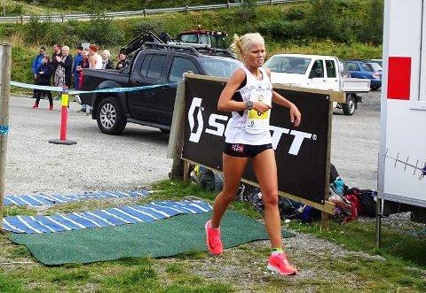 GOD: Julie Larsen viste god form i motbakkeløpet i Skjolden.