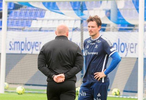 TRENING: Jørgen Horn kan rekke slutten av sesongen dersom opptreningen etter korsbåndskaden går som planlagt.