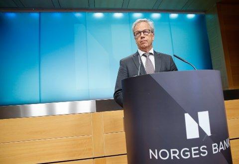 Sentralbanksjef Øystein Olsen.