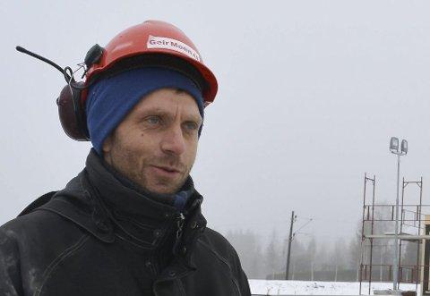 Viktig: Byggeleder Per Eivind Fremmegård mener verneombudet påpeker viktige ting som hjelper firmaet med sikkerheten.