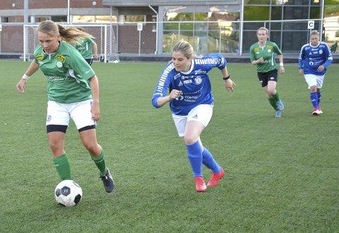 VELDIG FORNØYD: – I dag gikk det skikkelig bra, sier firemålsscorer Johanne Ruyter etter 9-1-seieren til Korsgård over Rakkestad.