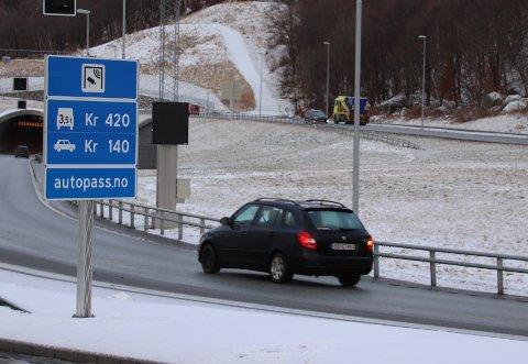 FÆRRE: Mandag formiddag var det færre biler som kjørte inn i Ryfylketunnelen enn i samme periode mandagen før.