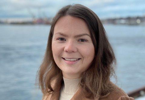 NEI TIL TVANG: Lisa Marie Ness Klungland, andrekandidat i Rogaland Senterparti, er imot at kommunesamanslåingar skal skje via tvang eller mot ein kommune sin vilje.