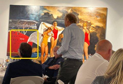 PROVOSERER: Kunstneren Per Fronth ønsker å sette søkelys på forholdet mellom kunst og penger, og har tatt i brukt produktplassering på sine nyeste bilder. Det får kunst-Norge til å koke. Foto: Gunnar Stavrum (Nettavisen)